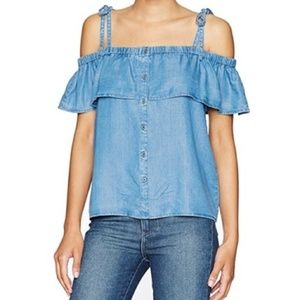 Lucky Brand | Soft Chambray Off The Shoulder Top